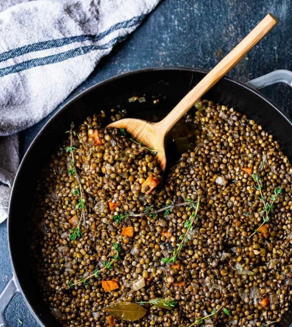Simple Braised French Lentils