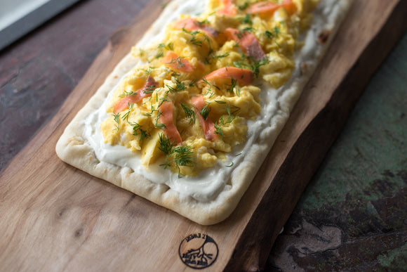 Scrambled Egg & Smoked Salmon Breakfast Pizza
