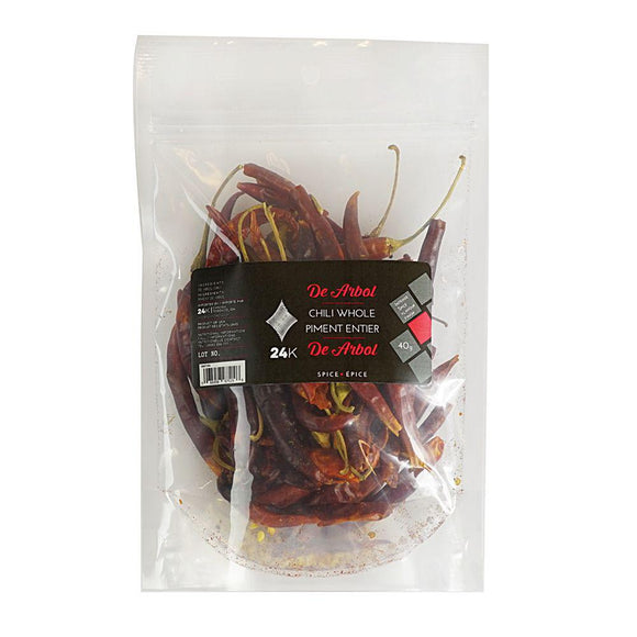 Dried Thai De Arbol Chiles - 14g