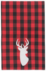Buffalo Check Deer Dish Towel