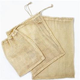 Cotton Mesh Produce Bags (Set of 3)