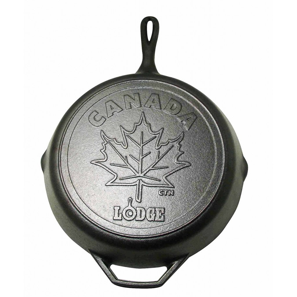 "Lodge Cast Iron 12"" Maple Leaf Skillet"