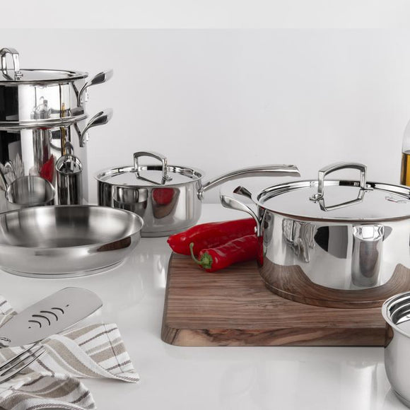 Cuisipro Tempo 10-Piece Stainless Steel Cookware Set
