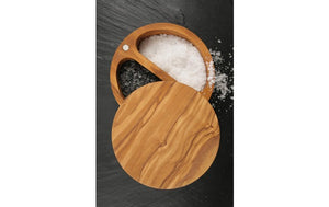 Swissmar Palermo Olive Wood Salt Keeper
