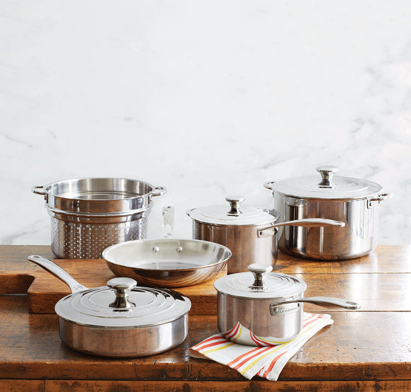 Le Creuset 10-Piece Stainless Steel Cookware Set