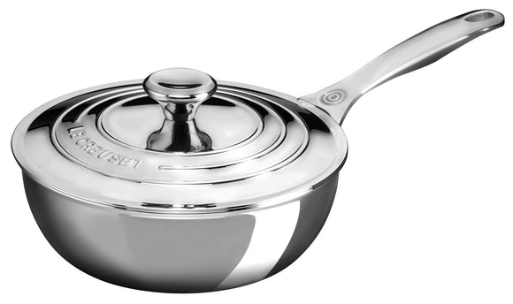 Le Creuset Stainless Steel Saucier Chef's Pan