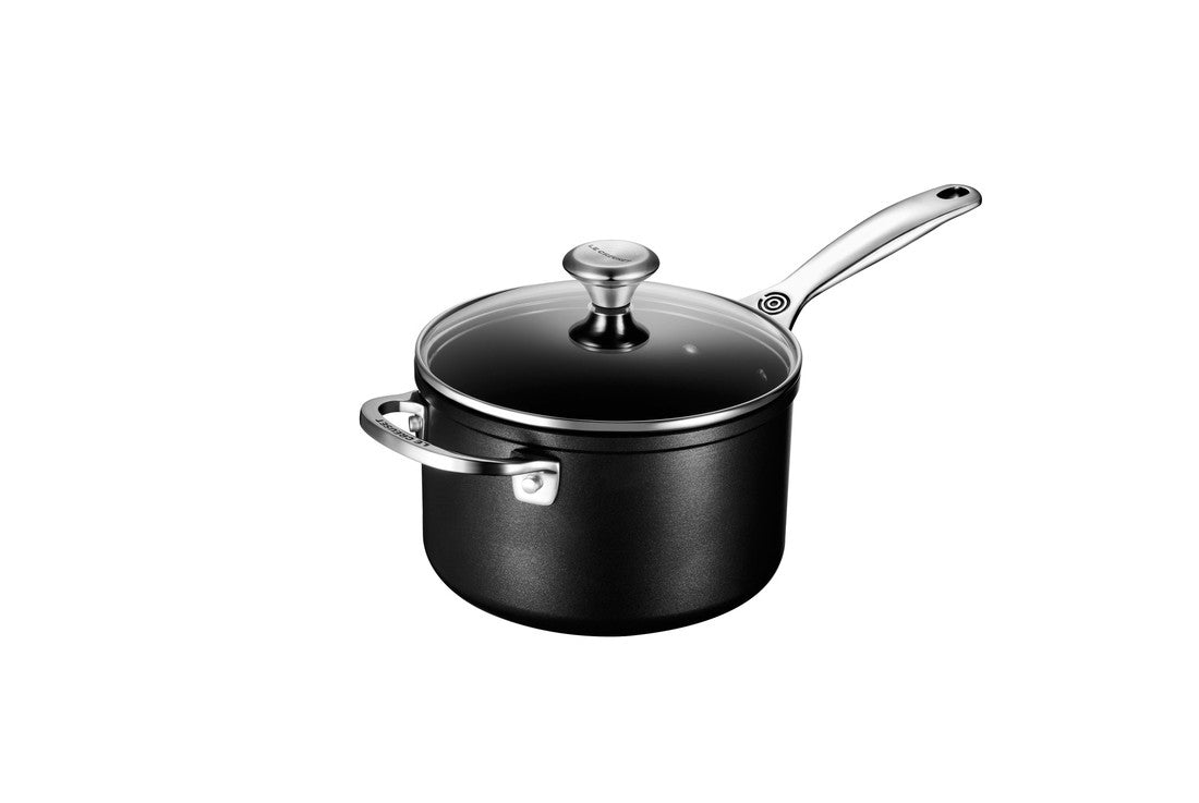 Le Creuset Toughened Non Stick Saucepan with Helper Handle and Lid