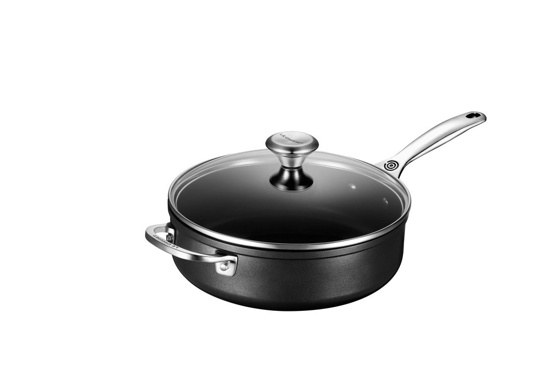 Le Creuset Toughened Non-Stick Saute Pan with Helper Handle and Lid