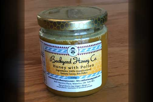 Backyard Honey Company Honey with Pollen