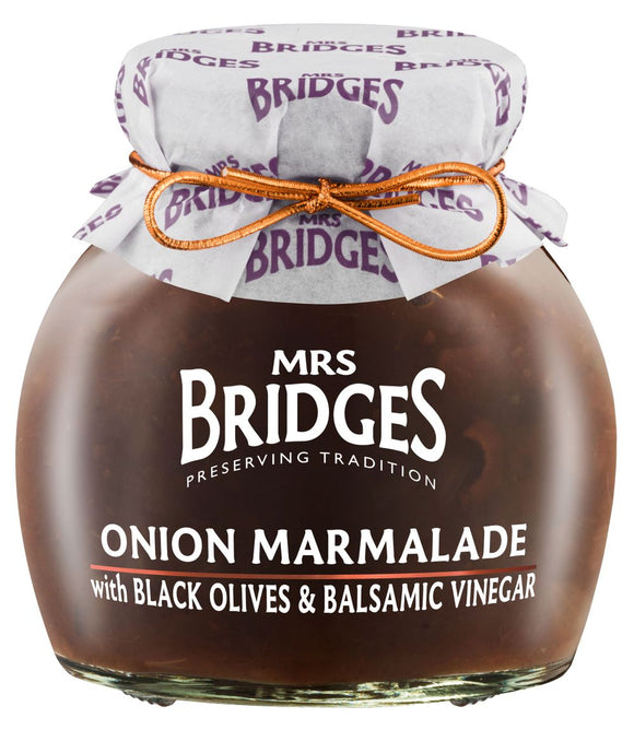 Mrs. Bridges Onion Marmalade with Black Olives & Balsamic Vinegar