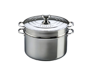 Le Creuset Stainless Steel Stock Pot with Pasta Insert