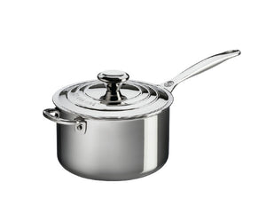 Le Creuset Stainless Steel Saucepan with Helper Handle