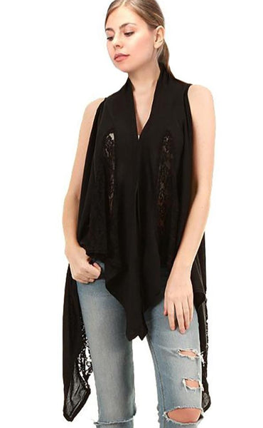 Vest lace Multi-way Vest or Shawl