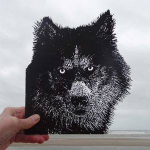 Open image in slideshow, Husky intricate art