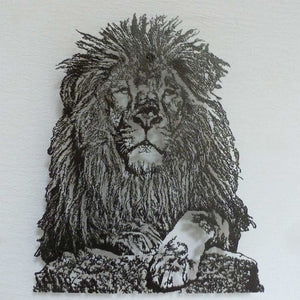 Open image in slideshow, Lion intricate art
