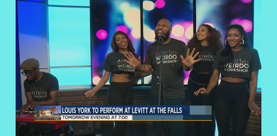 Musical artists 'Louis York' stops by KSFY studio ahead of Levitt performance