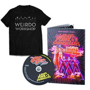 Classic Weirdo Workshop T-shirt (Black) + The Love Takeover Tour (CD)