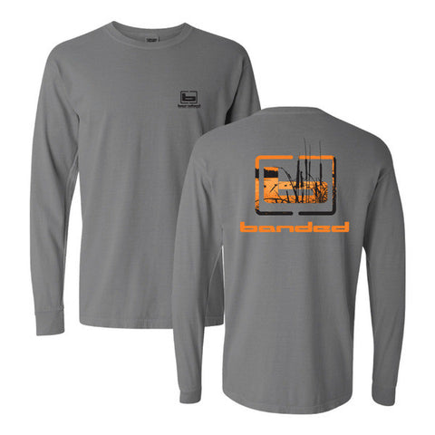 Banded Cattail L/S Tee - Gray