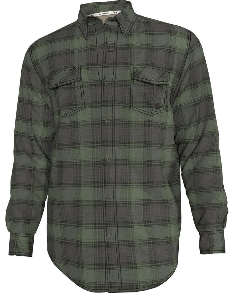 Banded Poplin Hombre Plaid Long Sleeve-Spanish Moss
