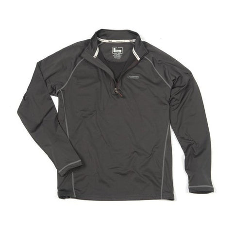Banded Polar Fleece 1/4 Zip Pullover Charcoal