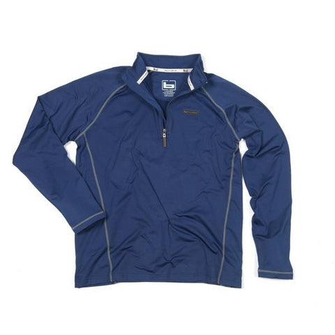 Banded Polar Fleece 1/4 Zip Pullover  Blue