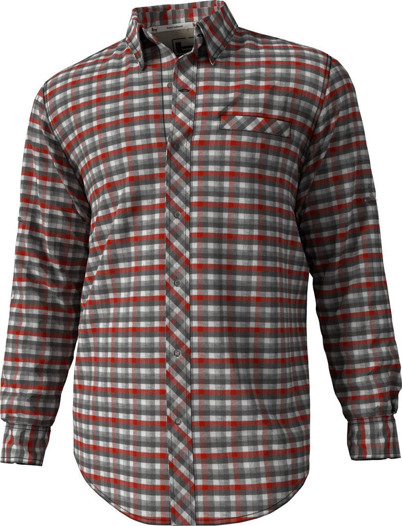 Banded Vented Check L/S Shirt