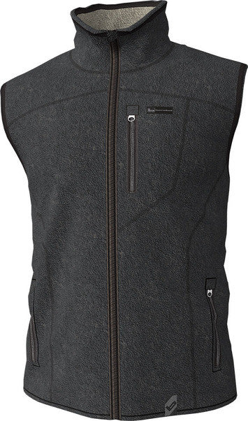 Banded Polar Fleece Vest Charcoal