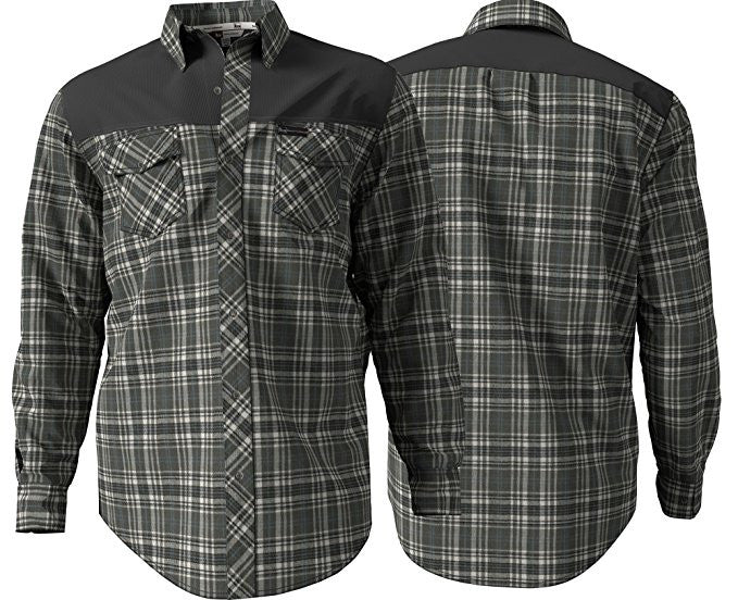 Banded Softshell Flannel Shirt Gray