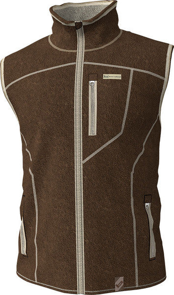 Banded Polar Fleece Vest Brown