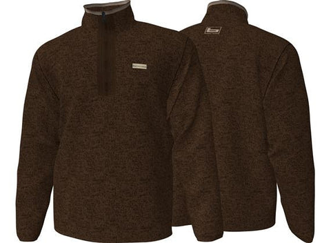 Banded Fleece 1/2 Zip Pullover Sweater Brown