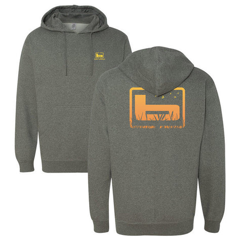 BANDED Cattail Hoodie - Gunmetal Heather