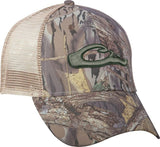 Mesh-Back Raised Logo Camo Cap   DH3011