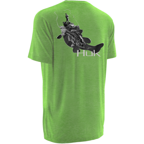 Huk KScott Strike Off Tee Heather Neon Green  H1000031