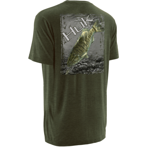 Huk KScott Small Mouth Tee H1000032 HEATHER GREEN