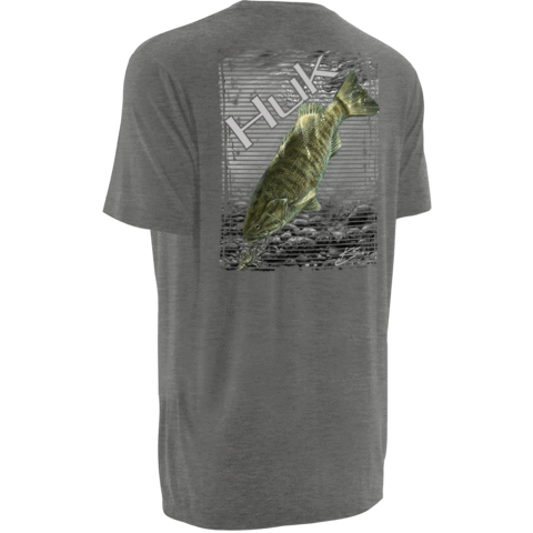 Huk KScott Small Mouth Tee H1000032 TRUE GREY HEATHER