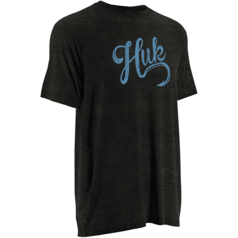 Huk Script Logo Tee Dark Grey Heather H1000045