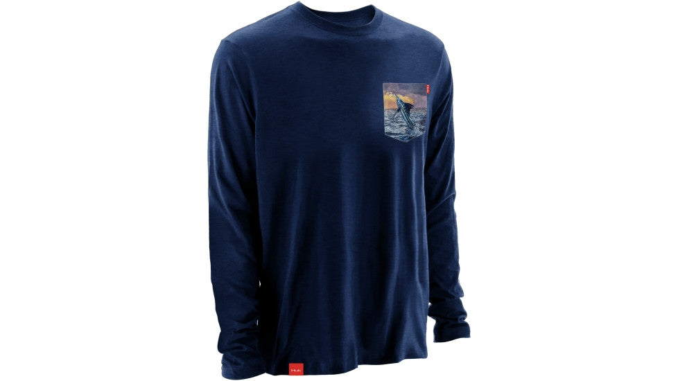 HUK Performance Fishing Mens Kscott Long Sleeve Pocket Tee H1000060