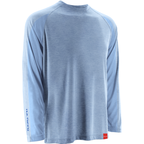 Huk NXTLVL Longsleeve Heather Carolina Blue H1200014 HCB