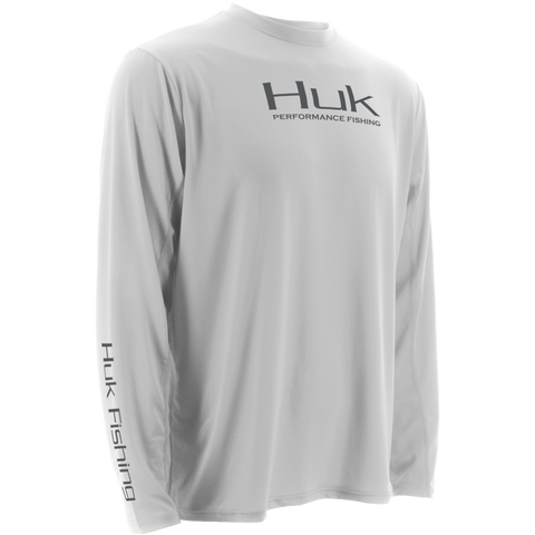 Huk ICON Long Sleeve H1200064 WHITE