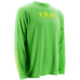 Huk ICON Long Sleeve H1200064NGN NEON GREEN