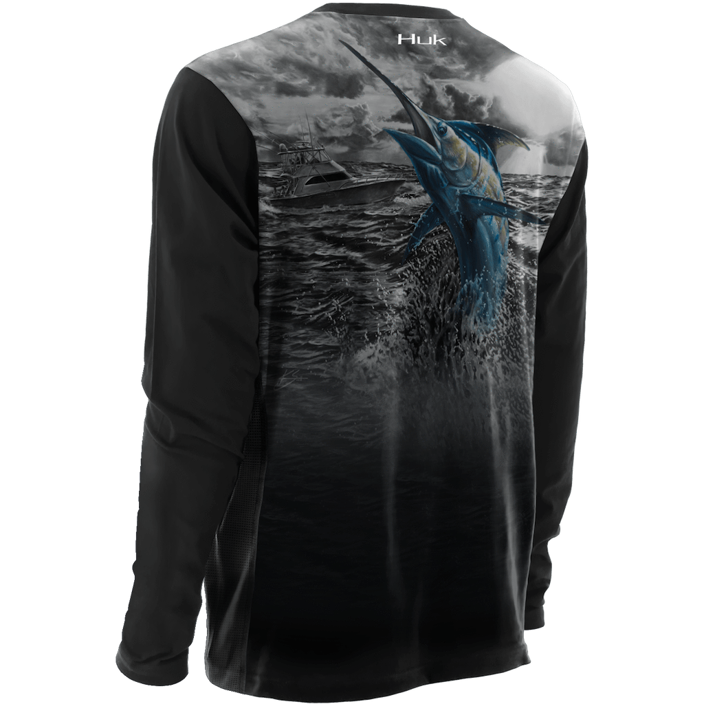 Huk KScott Performance Blue Storm Long Sleeve H1200093
