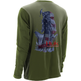Huk KScott Performance American Bass Long Sleeve  H1200104