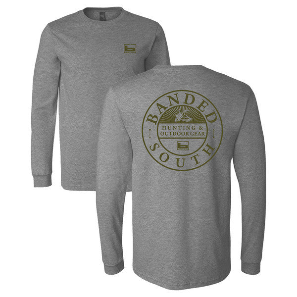 Banded South L/S Tee Gray