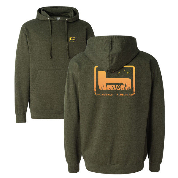 Banded Cattail Hoodie - Army Green
