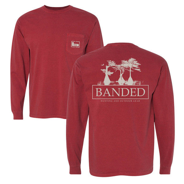 Banded Cypress L/S Tee Brick(darker than the picture appears)