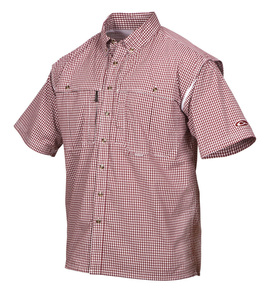 Drake Waterfowl Wingshooter's Gingham Game Day Shirt Short Sleeve DW2670