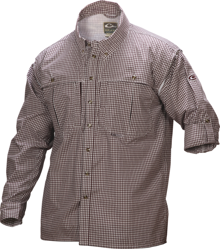 Drake Waterfowl Wingshooter's Gingham Game Day Shirt  Long Sleeve