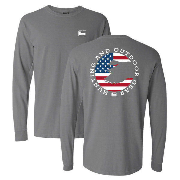 Banded Patriot L/S Tee - Gray -
