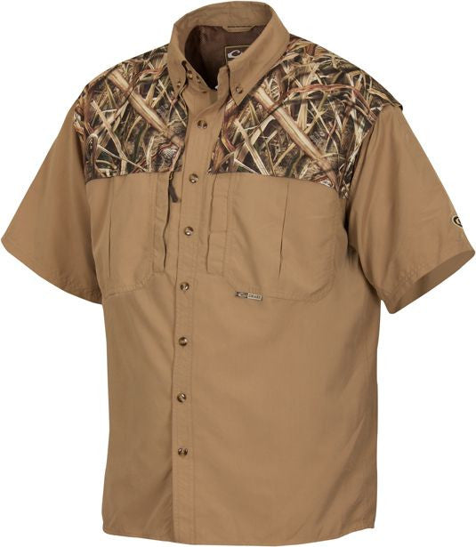 Two-Tone Vented Wingshooter's S/S Shirt
