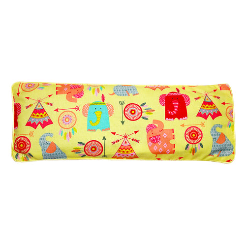 Boho Baby Tossed Motifs Snuggy Beansprout Husk Pillow